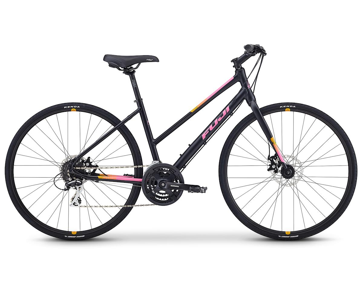 "Fuji Bikes 2019 Absolute 1.9 ST Flat Bar Road Bike (Satin Black/Pink) (15"")"
