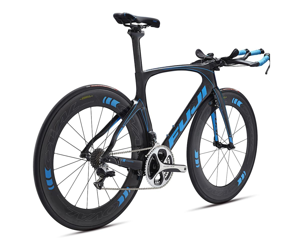 Fuji Bikes Fuji Norcom Straight 1.1 Triathlon Road Bike - 2016 (Carbon/Cyan)