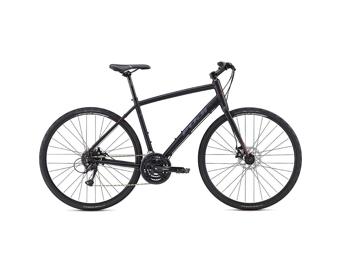 Fuji Absolute 1.9 Disc Flat Bar Road Bike - 2017 (Black/Red) (15)