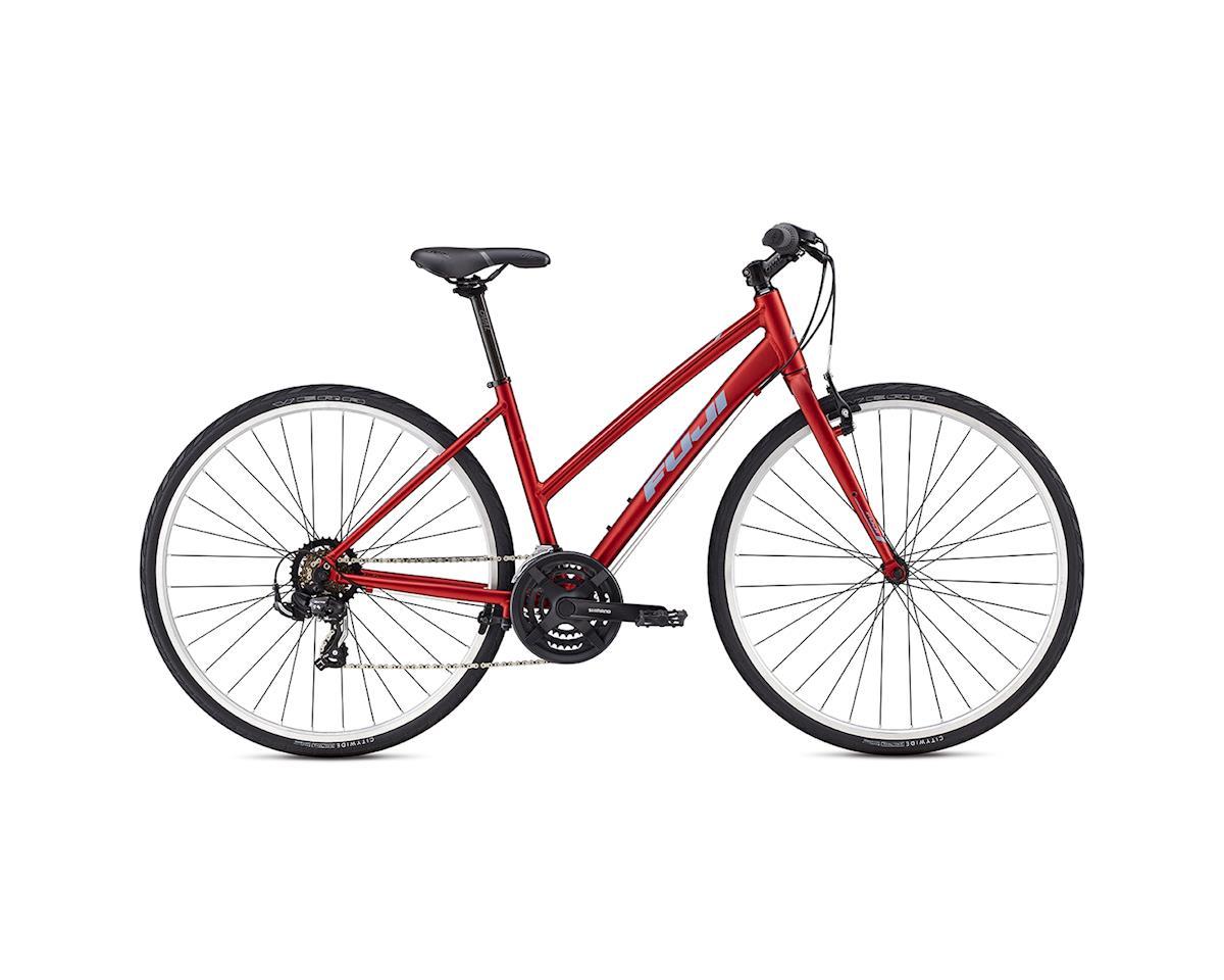 Fuji Absolute 2.3 Flat Bar Women's Road Bike - 2017 (Red/Blue) (15)