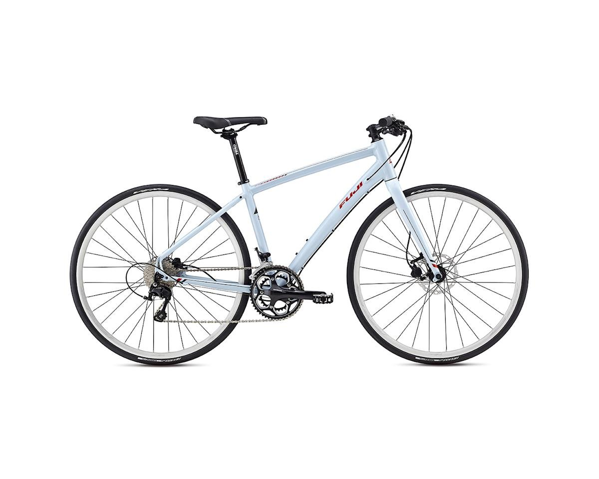Fuji Silhouette 1.1 Disc Women's Flat Bar Road Bike -- 2017 (Blue/Black) (15)