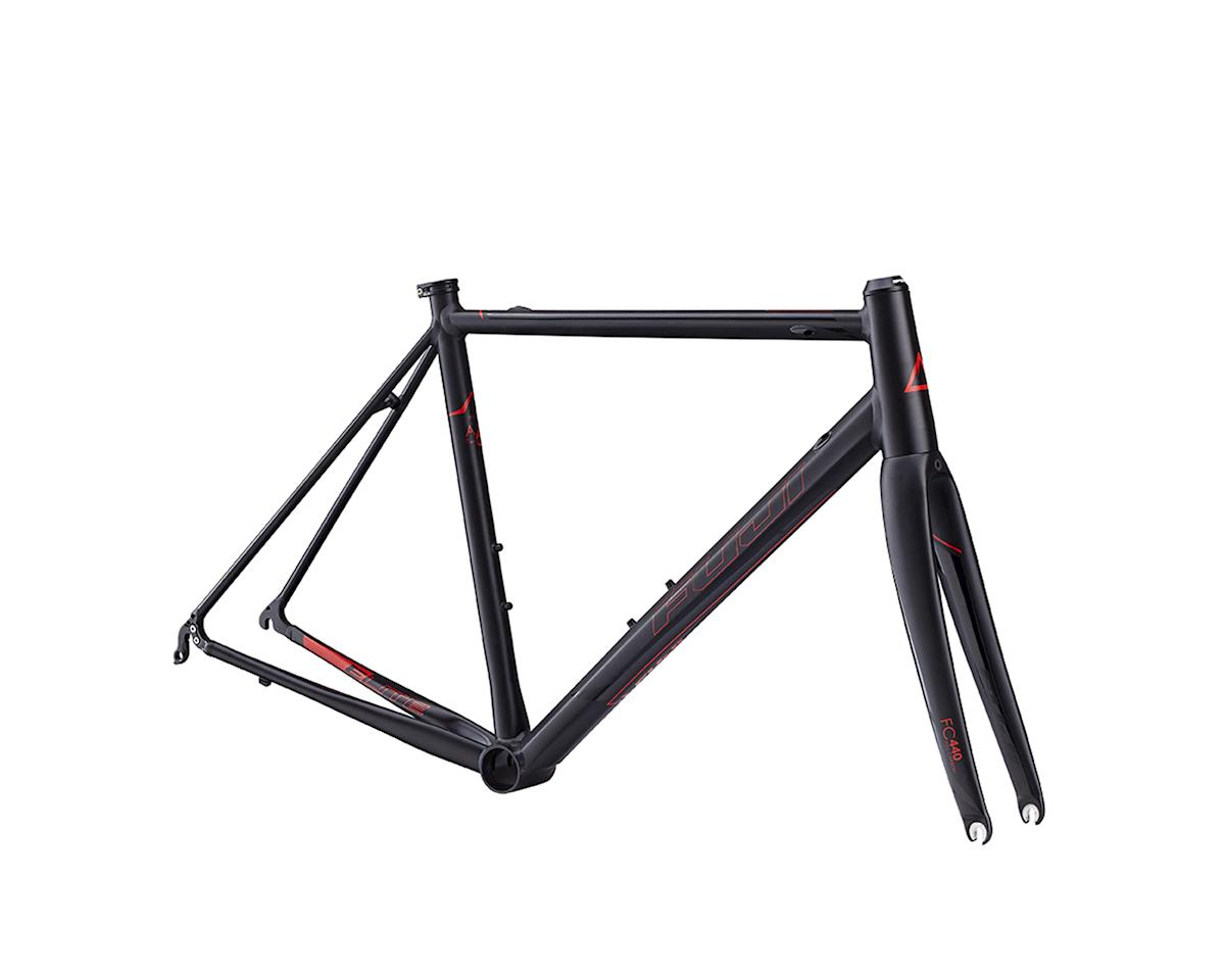 Fuji Bikes Fuji Roubaix Elite Road Bike Frame -- 2017 (Black/Red)