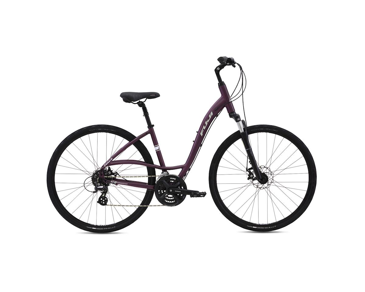 Fuji Crosstown 1.3 Disc LS Women's Comfort Bike - 2016 (Purple) (15)