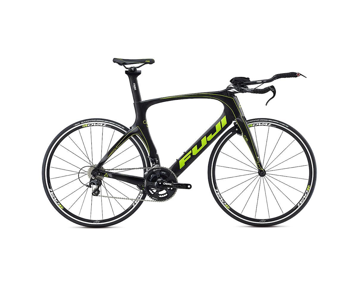 Fuji Norcom Straight 2.3 Triathlon Road Bike - 2017 (Carbon/Green) (55)