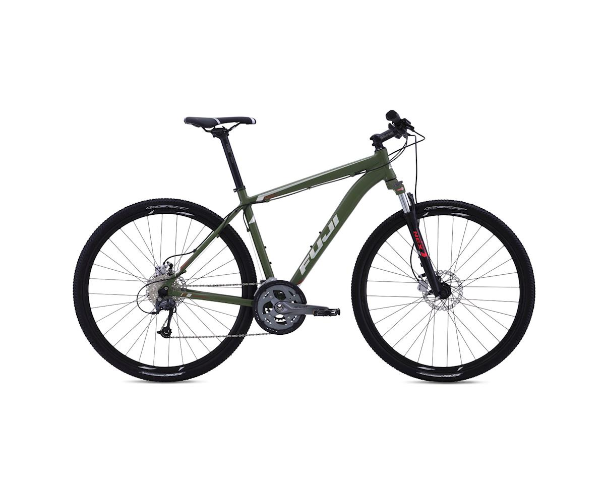 Fuji Traverse 1.3 Disc Sport Hybrid Bike - 2016 (Green) (17)