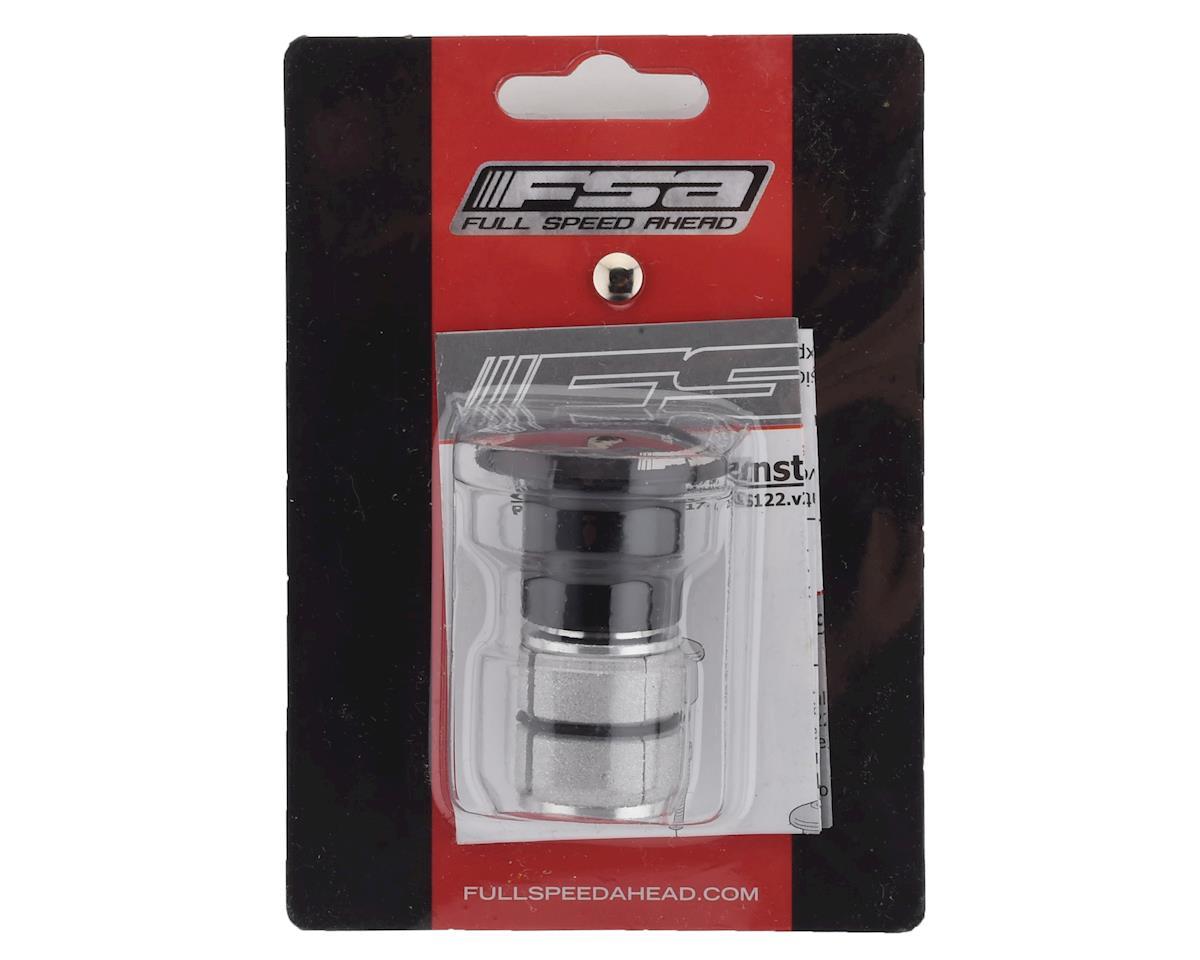 """FSA Compressor 1"""" Expander Plug & Top Cap (Black)"""