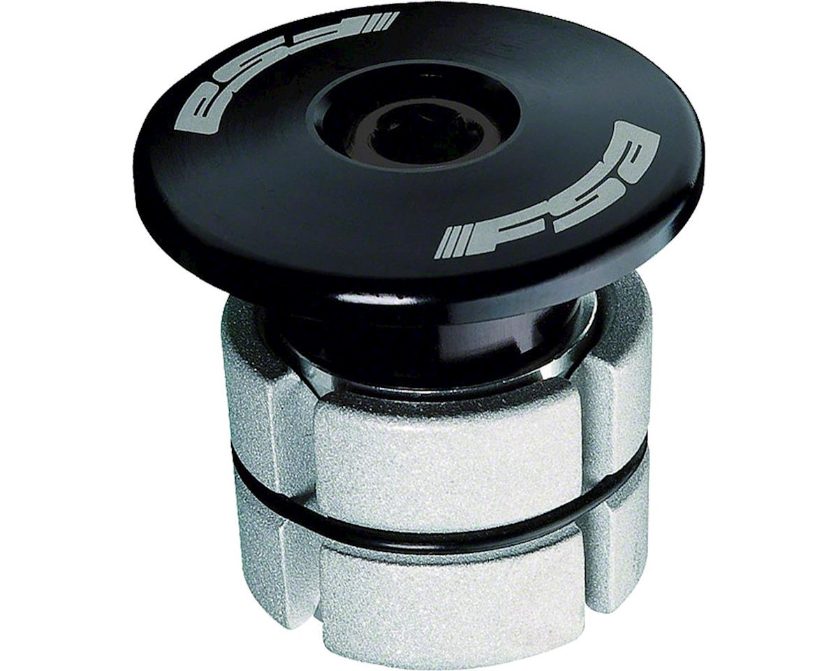 """FSA Compressor 1-1/8"""" Expander Plug & Top Cap (Black)"""