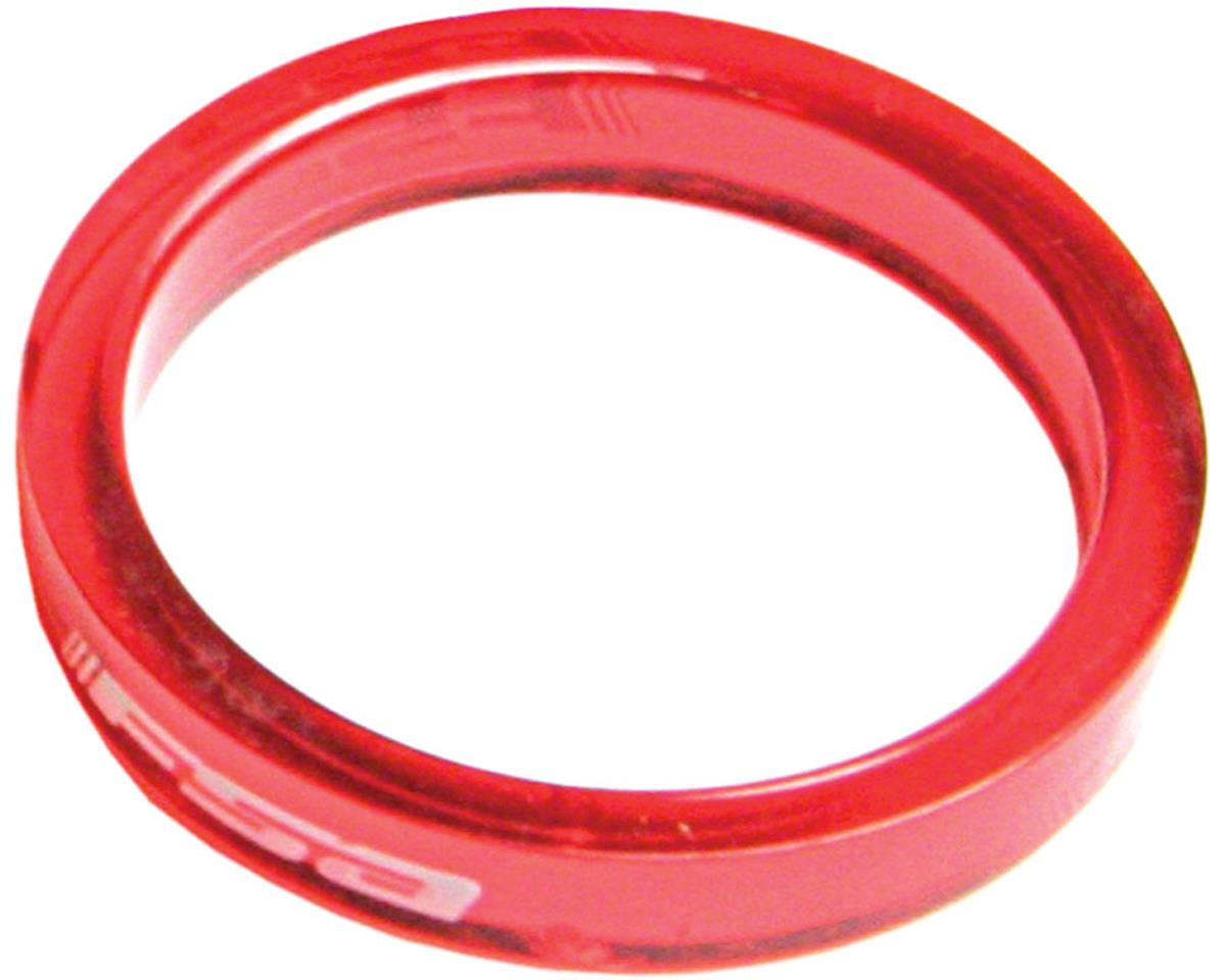 "FSA PolyCarbonate 5mm Spacer Bag (Red) (1-1/8"") (10)"