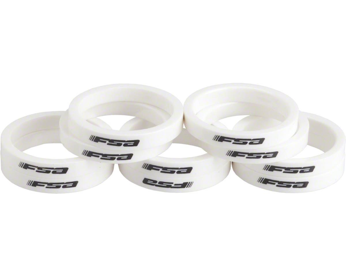 "FSA PolyCarbonate 5mm Spacer Bag (White) (1-1/8"") (10)"