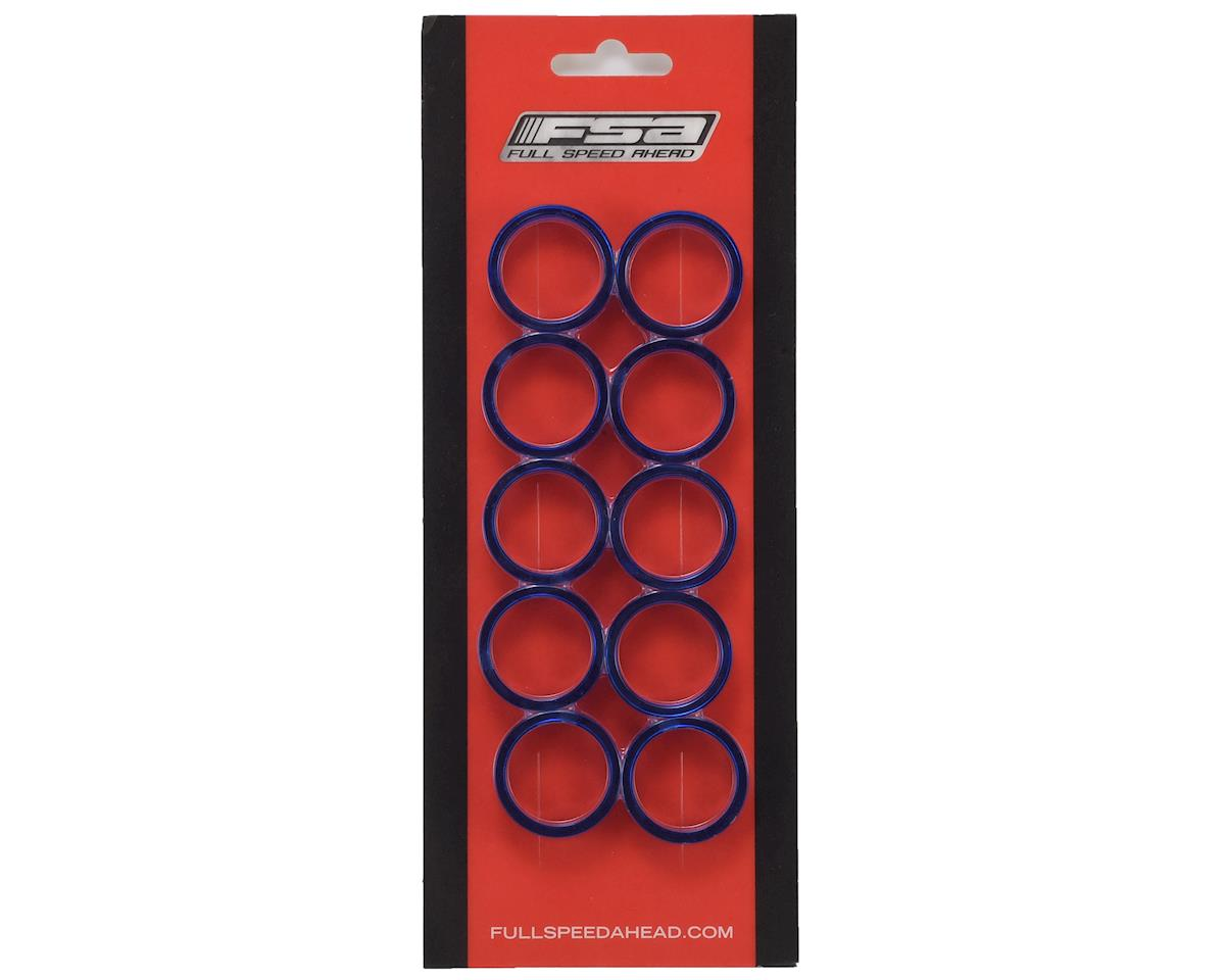 """FSA PolyCarbonate Headset Spacers (Blue) (1-1/8"""") (10) (10mm)"""