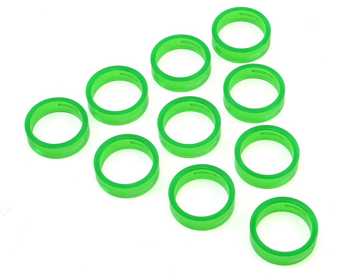 """FSA PolyCarbonate Headset Spacers (Green) (Pack of 10) (1-1/8""""x10mm)"""