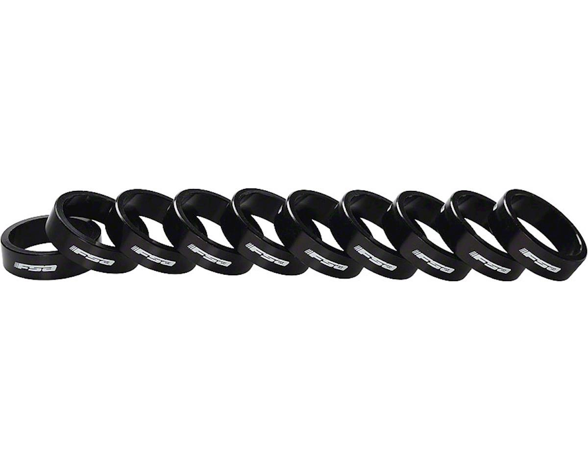 """FSA Alloy Headset Spacers (Black) (1-1/8"""") (10) (10mm)"""