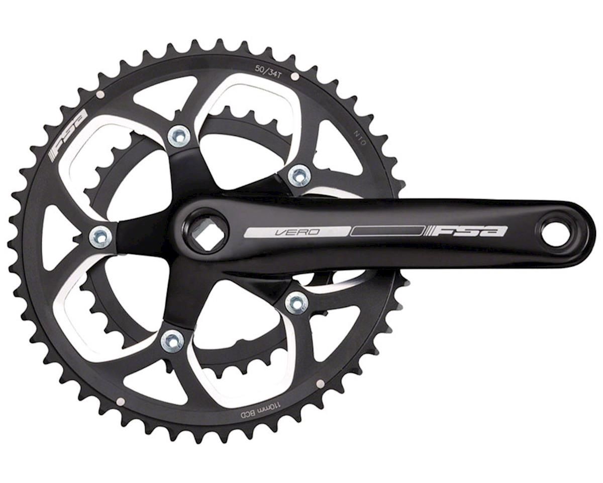 FSA Vero Compact 172.5Mm 34/50 Jis Crankset Black~ Bottom Bracket Not Included