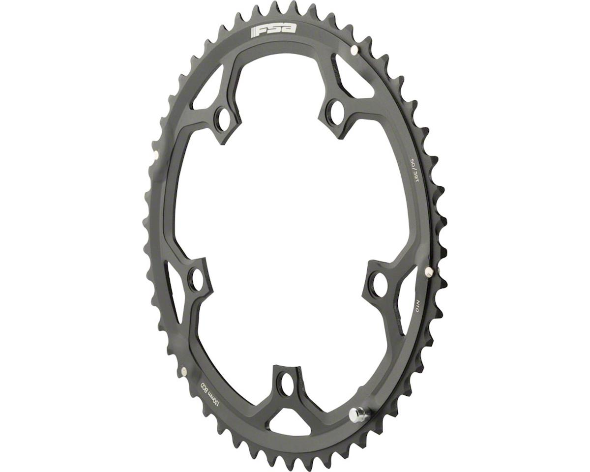 FSA Pro Road N10 Triple Chainring (130BCD) (Black) (50T)