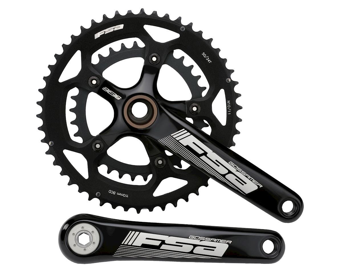FSA Gossamer Road Bike Crankset 34-50 (Black) (172.5)