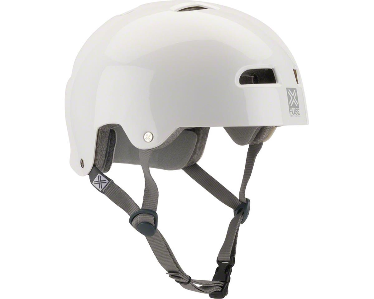 Fuse Protection Alpha Icon Helmet: LG/XL (59-61cm) Glossy Black Brush Logo (S/M)