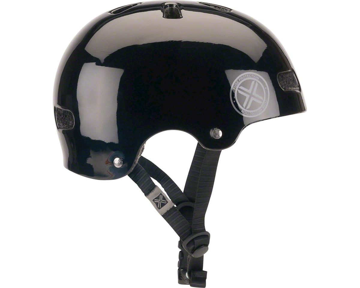 Fuse Protection Delta Scope In-Mold Hardshell Helmet - Glossy Black, Medium/X-La
