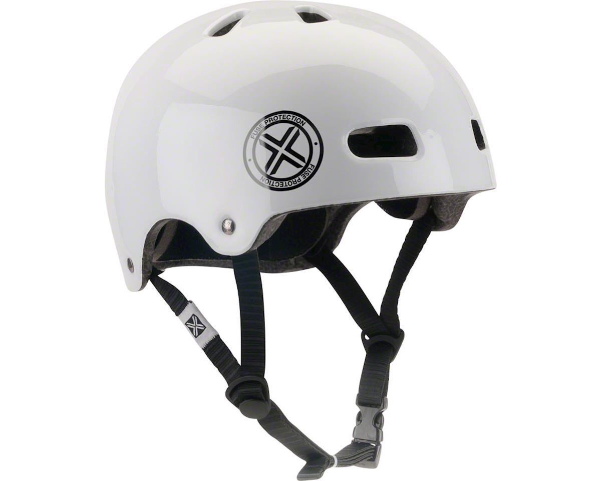 Fuse Protection Delta Scope In-Mold Hardshell Helmet - Glossy White, Medium/X-La