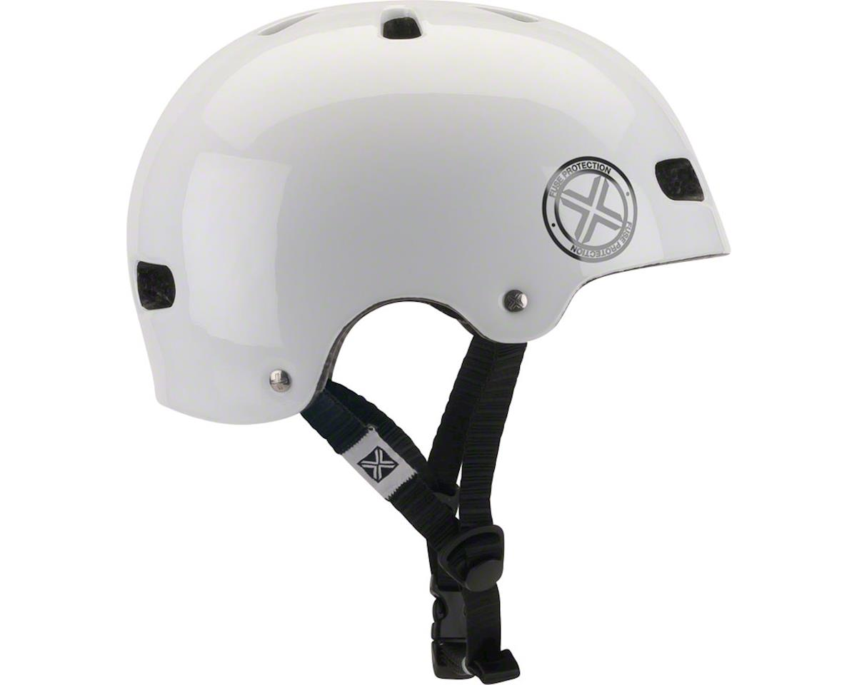 Image 2 for Fuse Protection Delta Scope In-Mold Hardshell Helmet - Glossy White, Medium/X-La