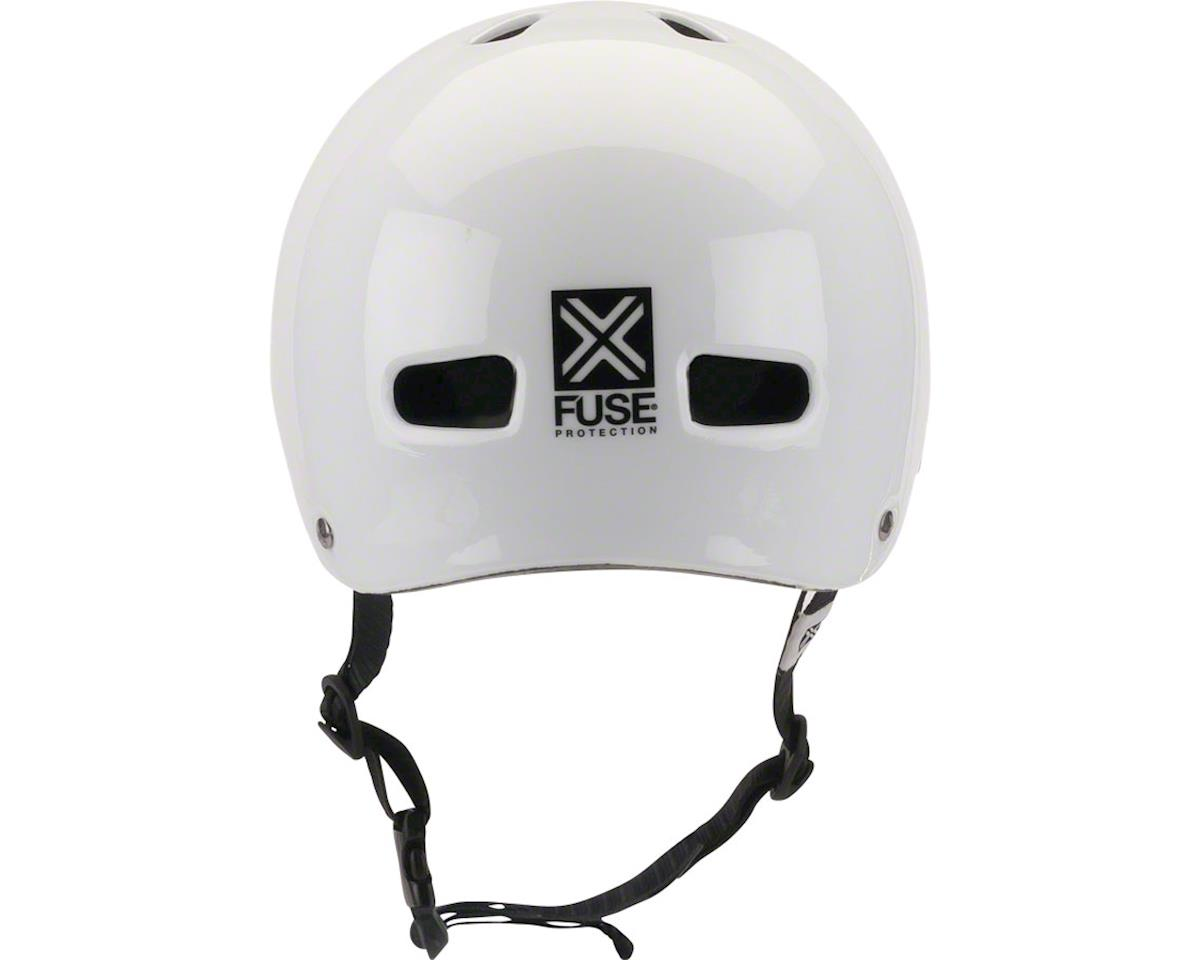 Image 3 for Fuse Protection Delta Scope In-Mold Hardshell Helmet - Glossy White, Medium/X-La
