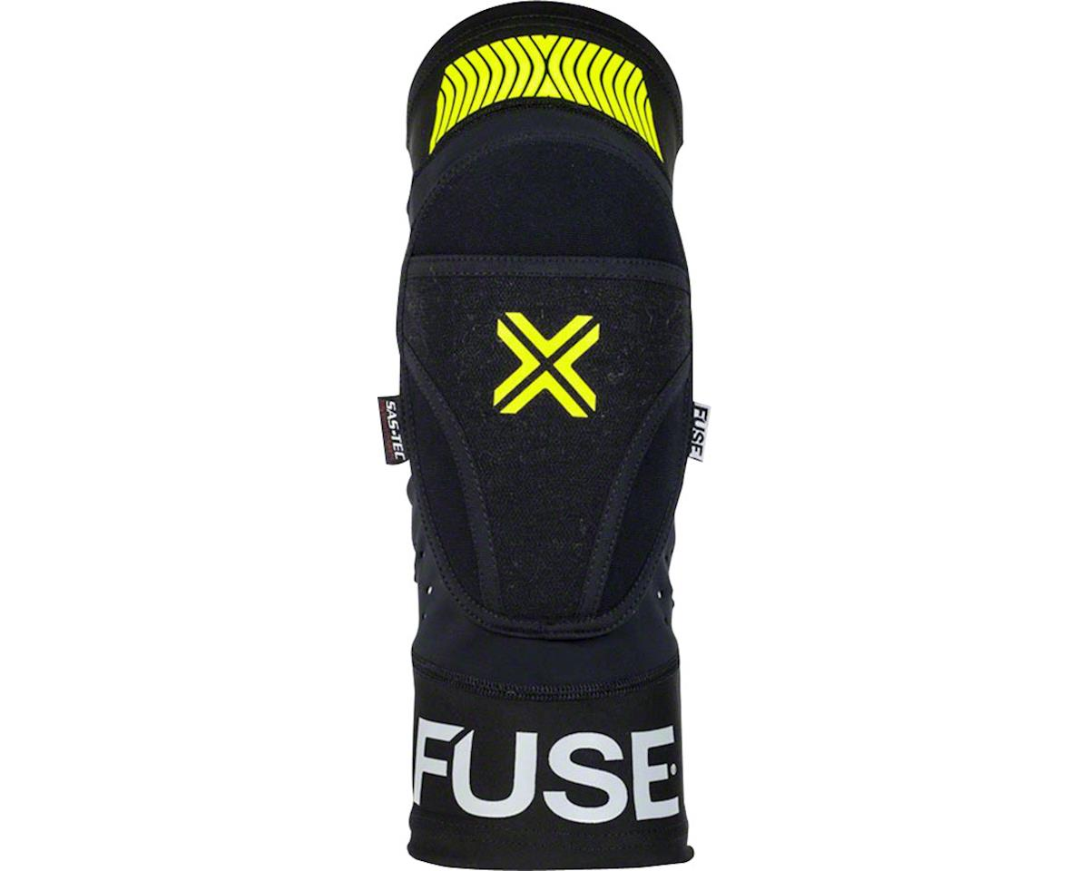 Fuse Protection Omega Knee Pad: Black/Neon Yellow, XL/2XL, Pair (S/M)