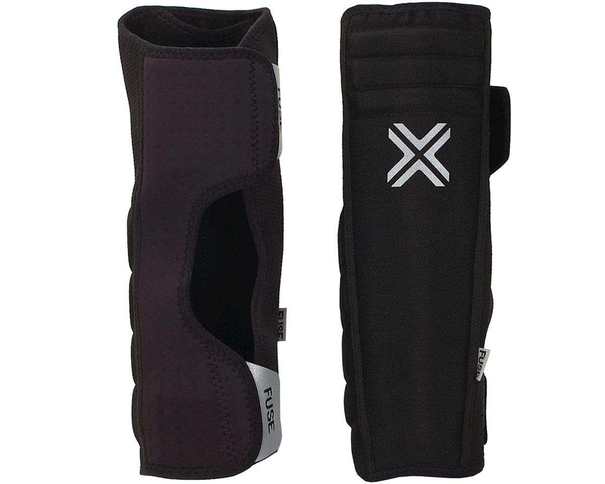 Fuse Protection Alpha Shin Whip Extended Pad: Black SM, Pair (2XL)
