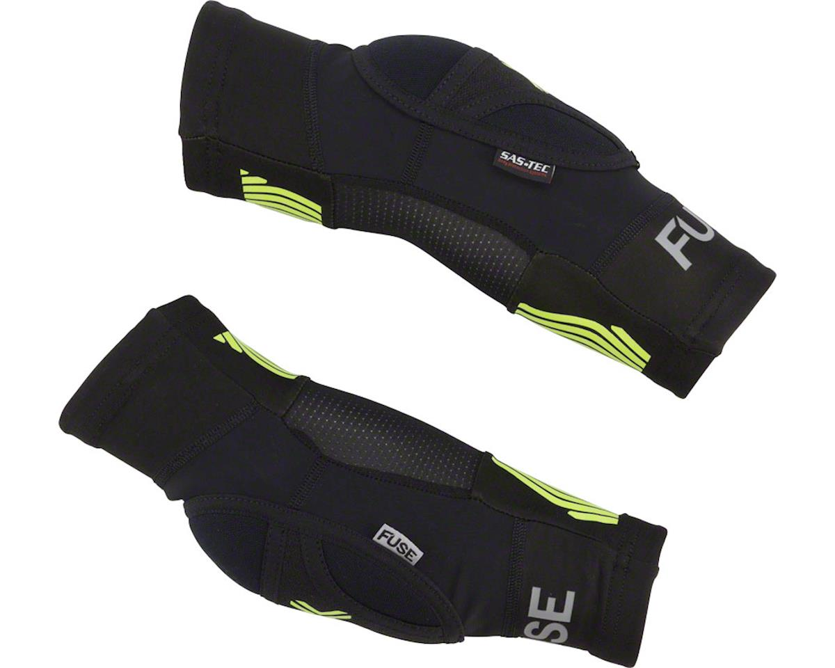 Fuse Protection Omega Elbow Pad: Black/Neon Yellow, SM/MD, Pair (L/XL)