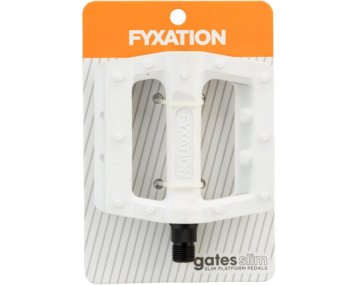 Fyxation Gates Slim Pedals White