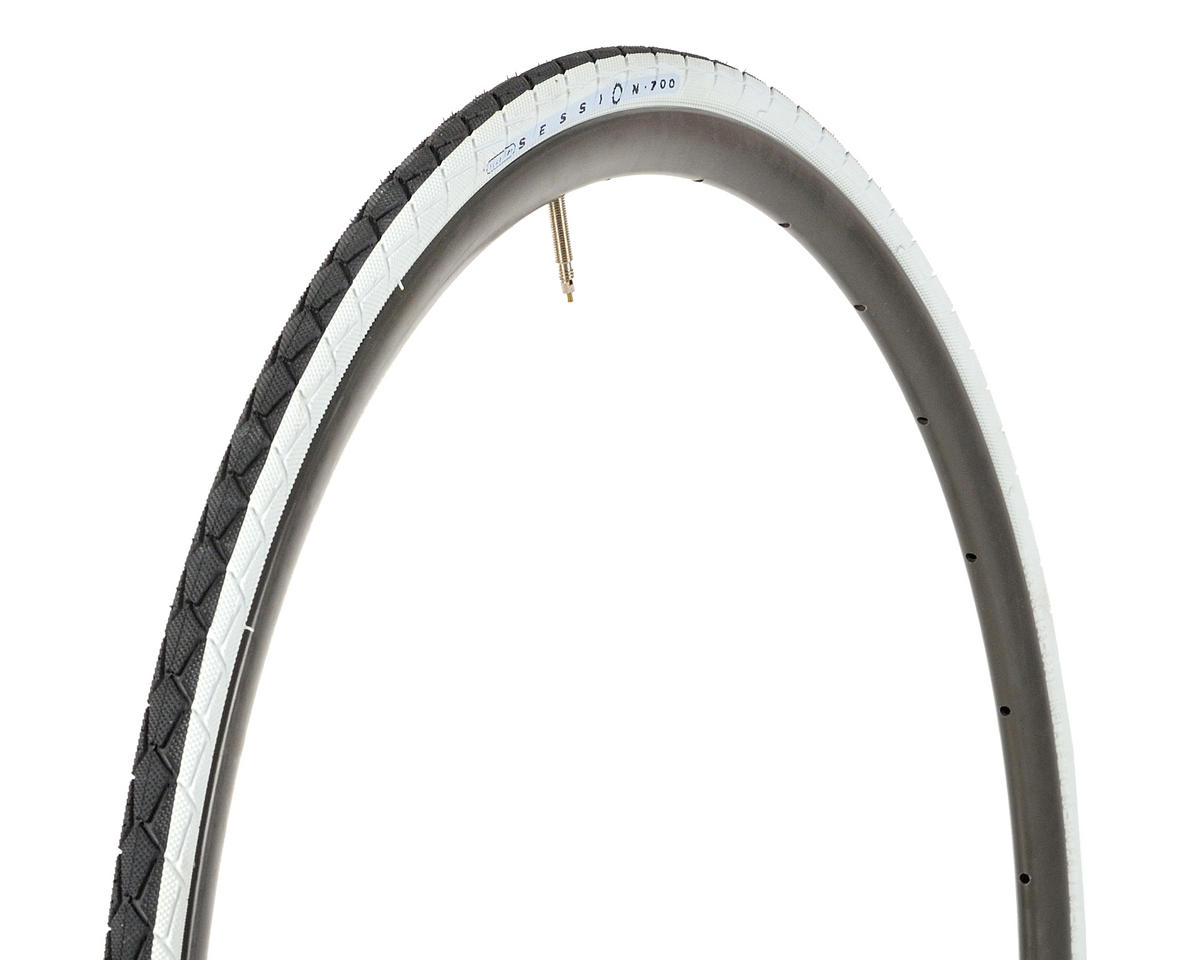 Fyxation Session Tire 700c Dual Comp (White) (Folding) (700 x 23)