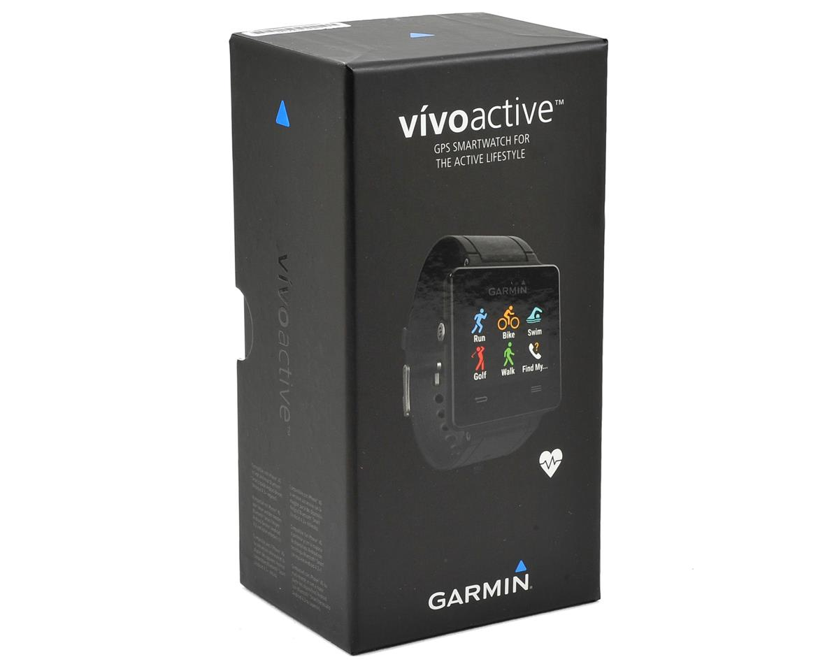 Garmin Vivoactive GPS Smartwatch Heart Rate Monitor Bundle (Black)