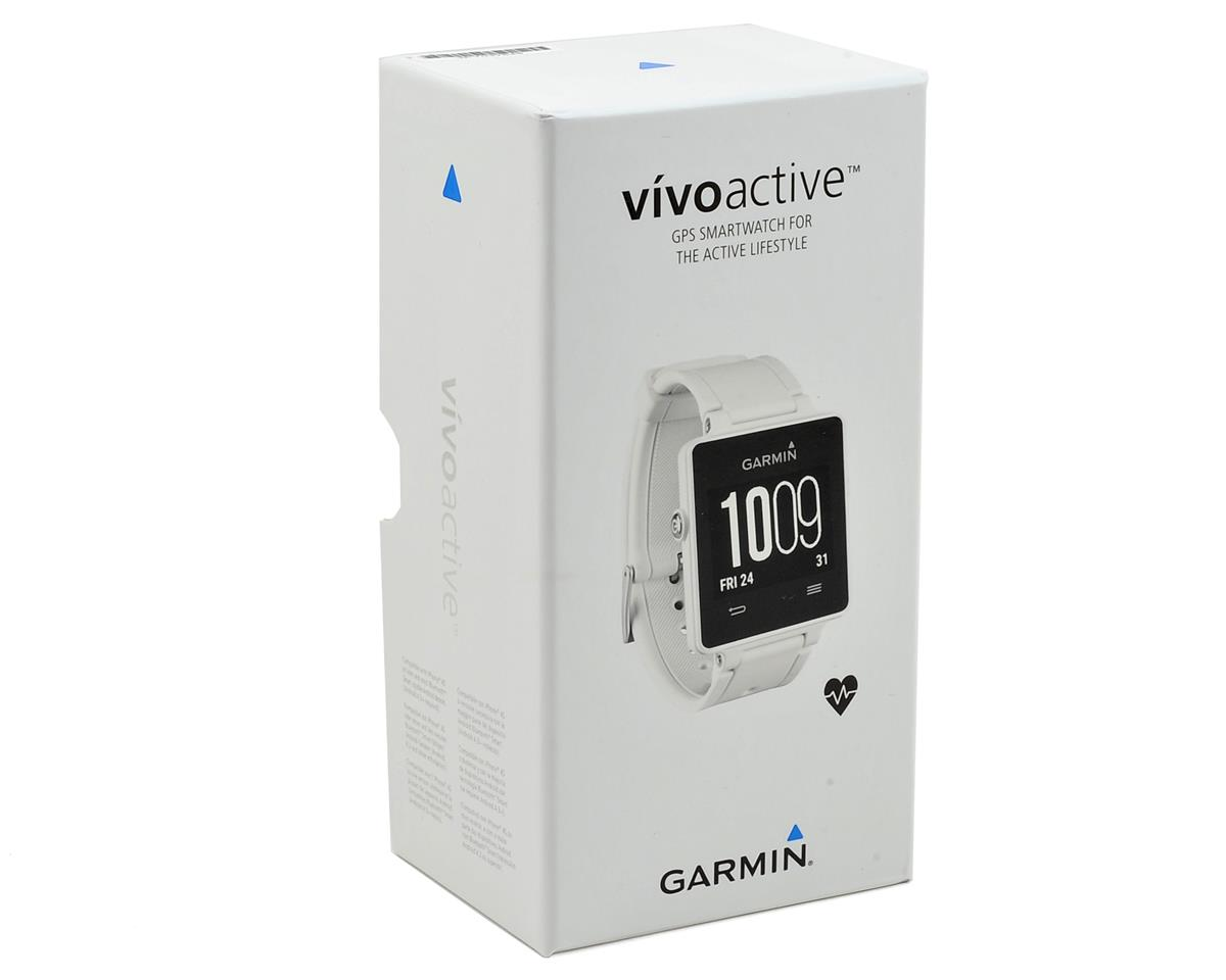 Garmin Vivoactive GPS Smartwatch Heart Rate Monitor Bundle (White)