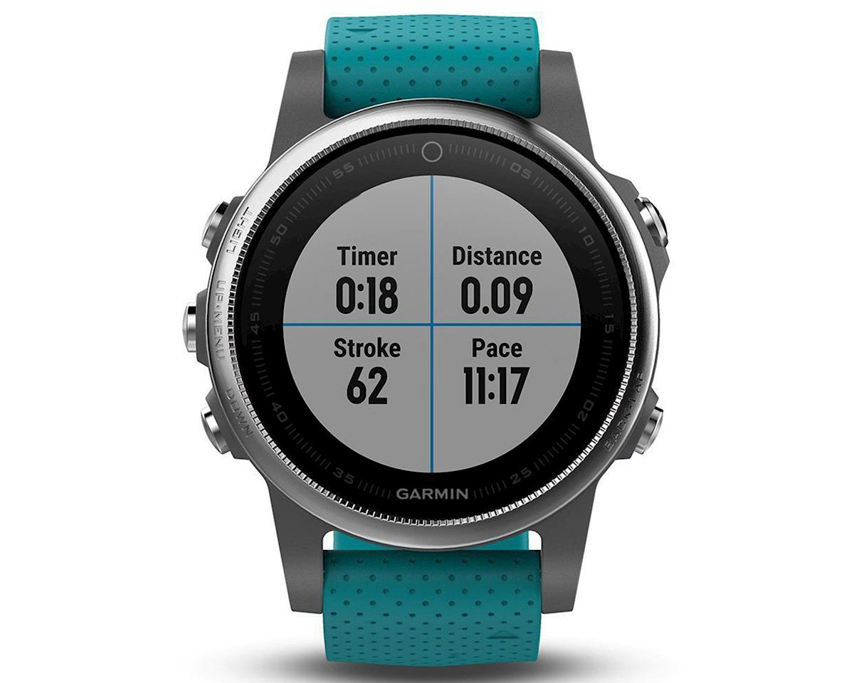 Garmin Fenix 5S GPS Multisport Watch (Gray/Turquoise)