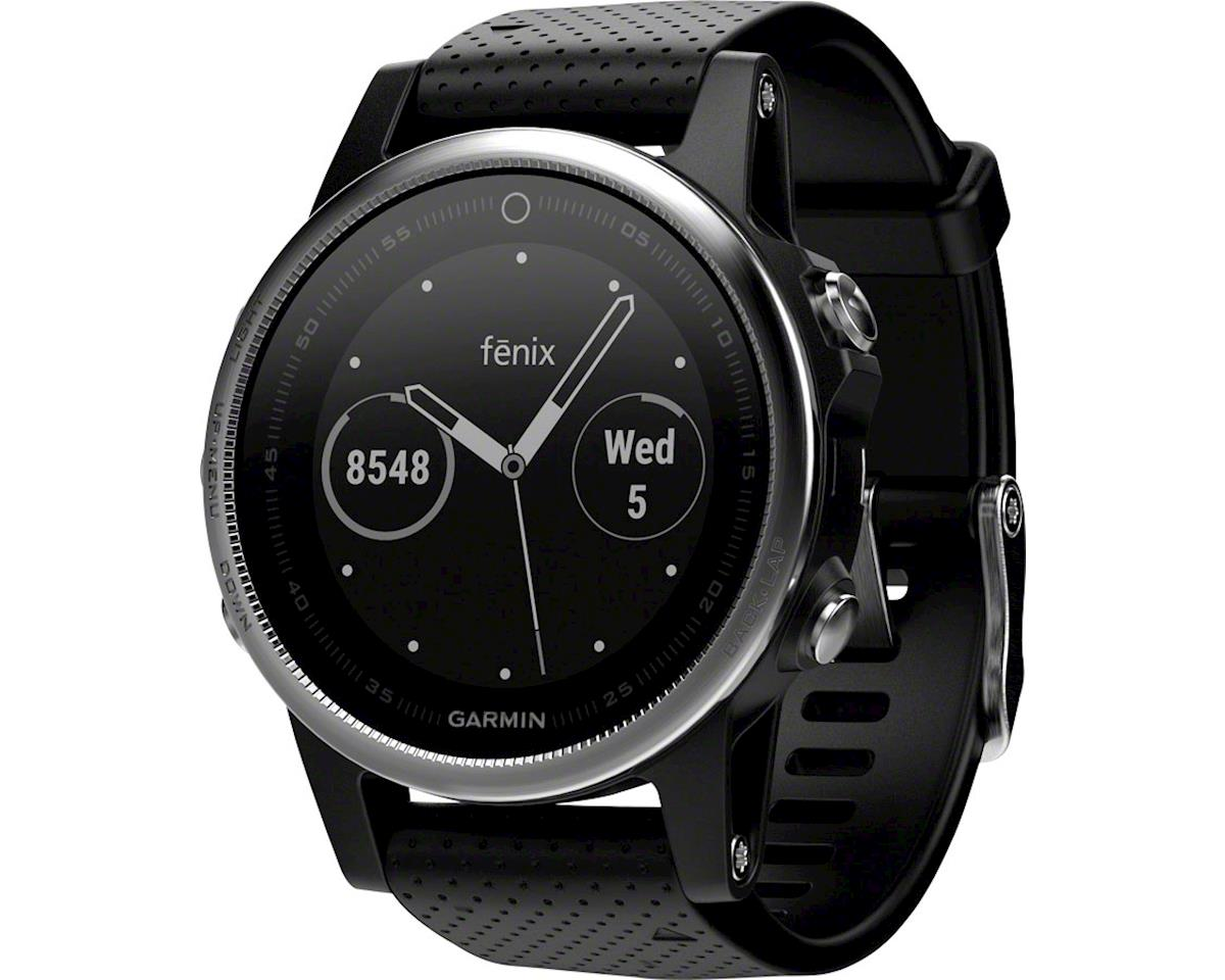 Garmin Fenix 5S Multisport GPS Watch (Silver/Black)