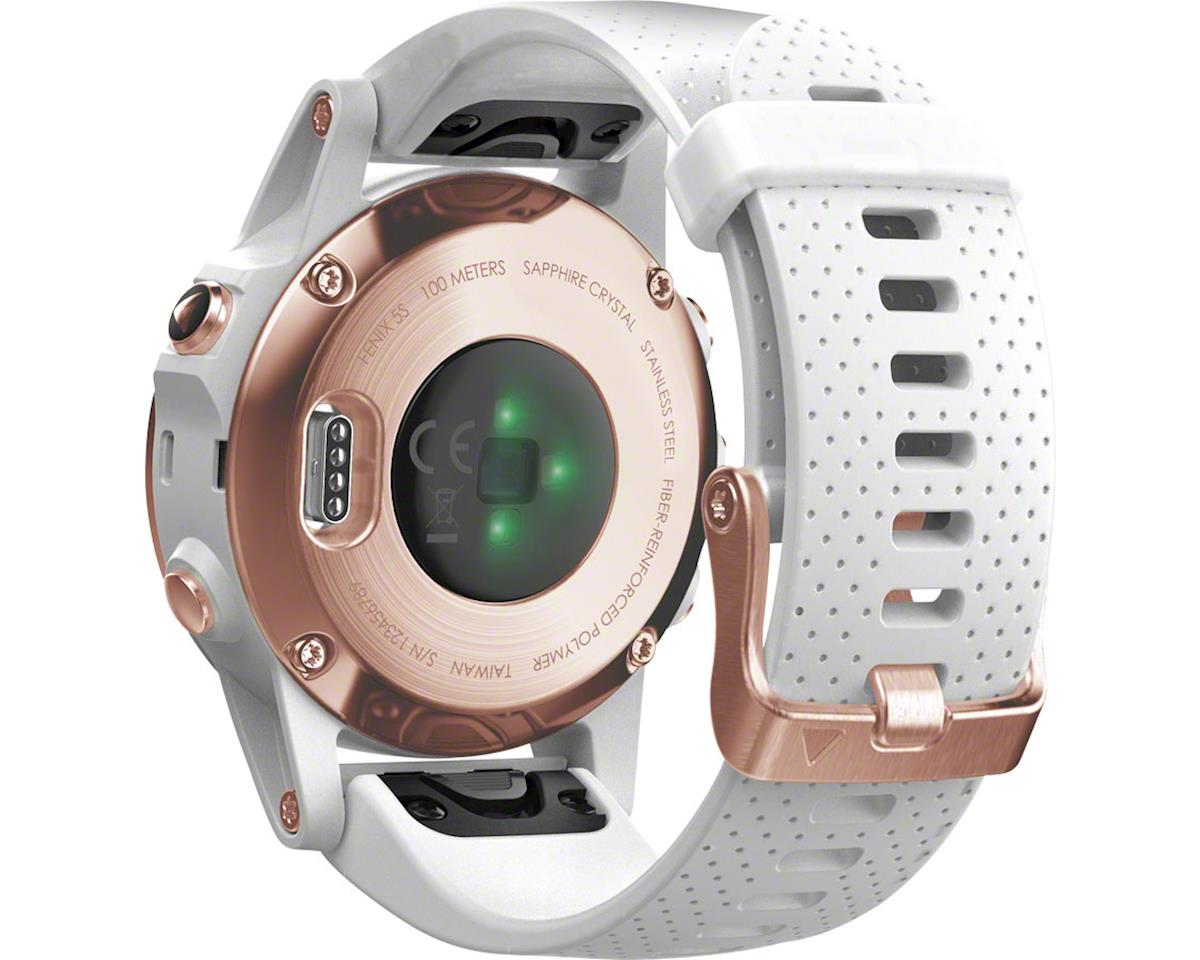 Garmin Fenix 5S Sapphire GPS Watch (Rose Gold/White)