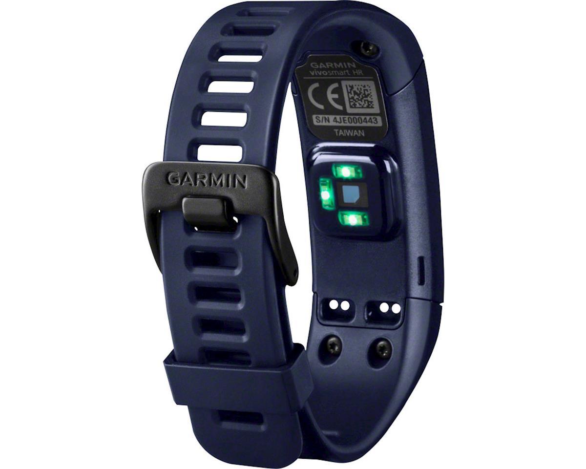 Garmin Vivosmart Heart Rate Activity Tracker, Regular Fit: Midnight Blue