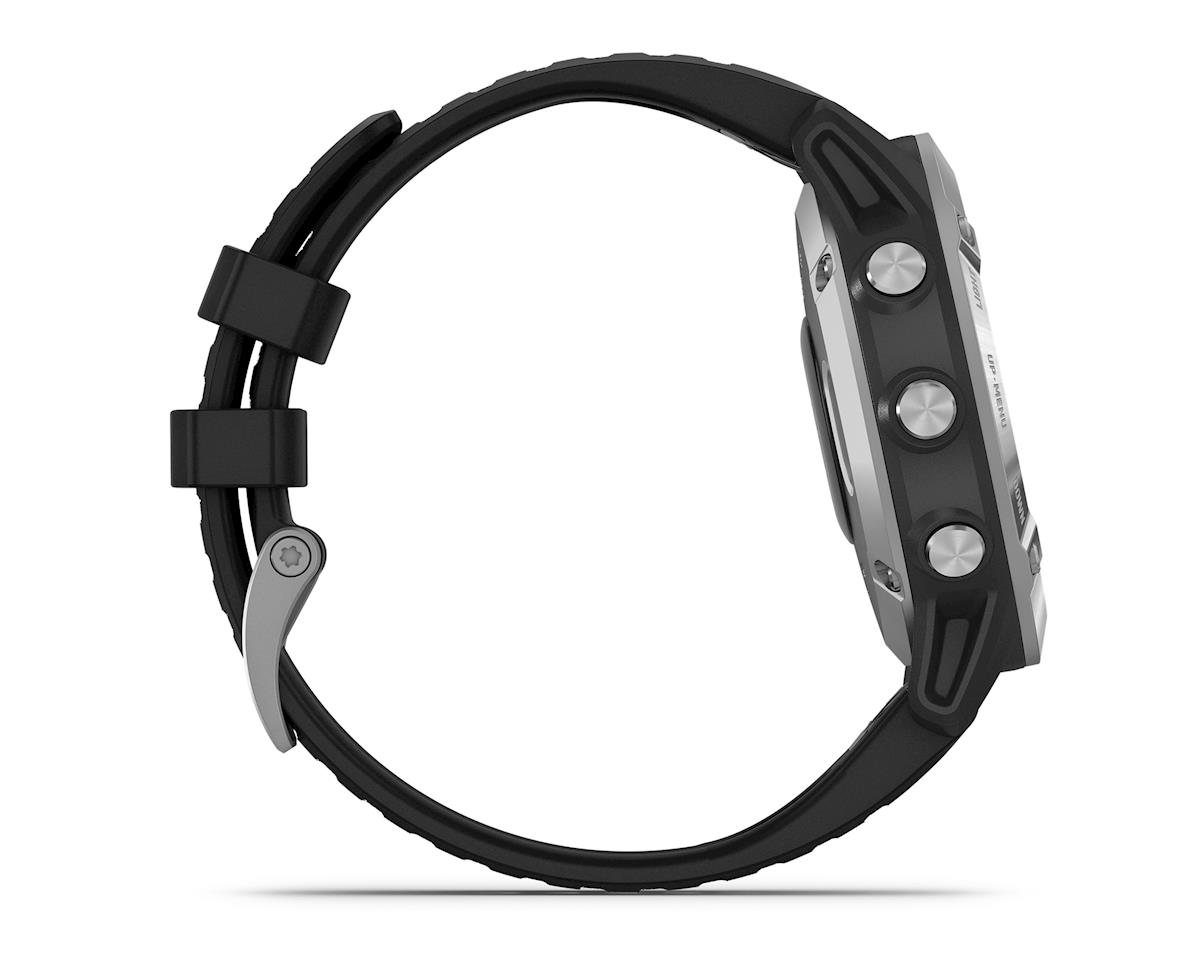 Garmin Fenix 6 (Silver w/ Black Fenix 6 Quick Fit Wristband)
