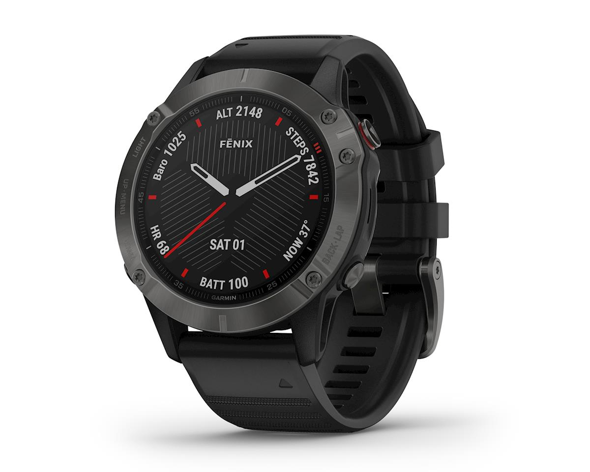 Garmin Fenix 6 Sapphire (Gray w/ Black Fenix 6 Quick Fit Wristband)