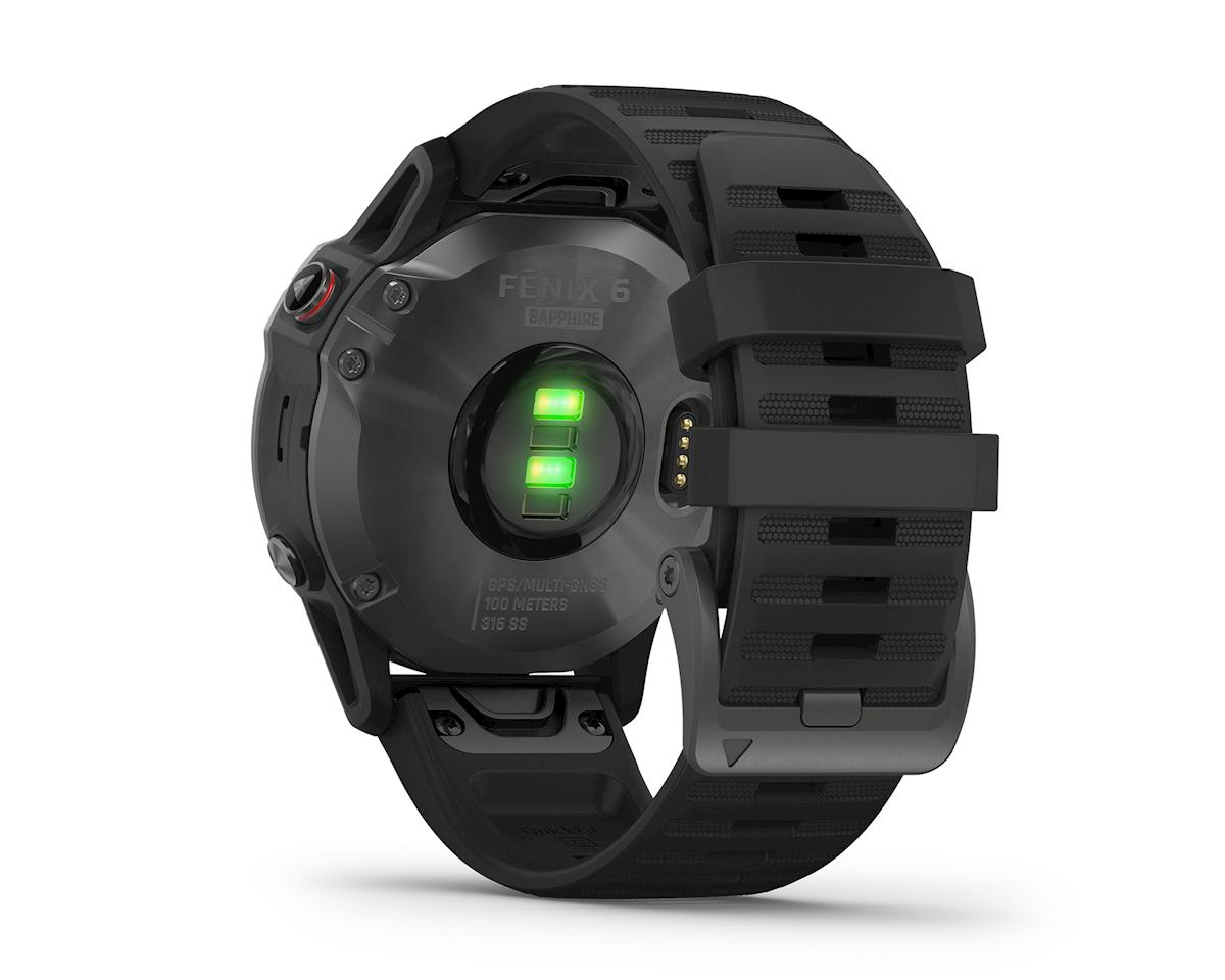 Garmin Fenix 6 Sapphire (Gray w/ Black Fenix 6 Quick Fit Wristband)