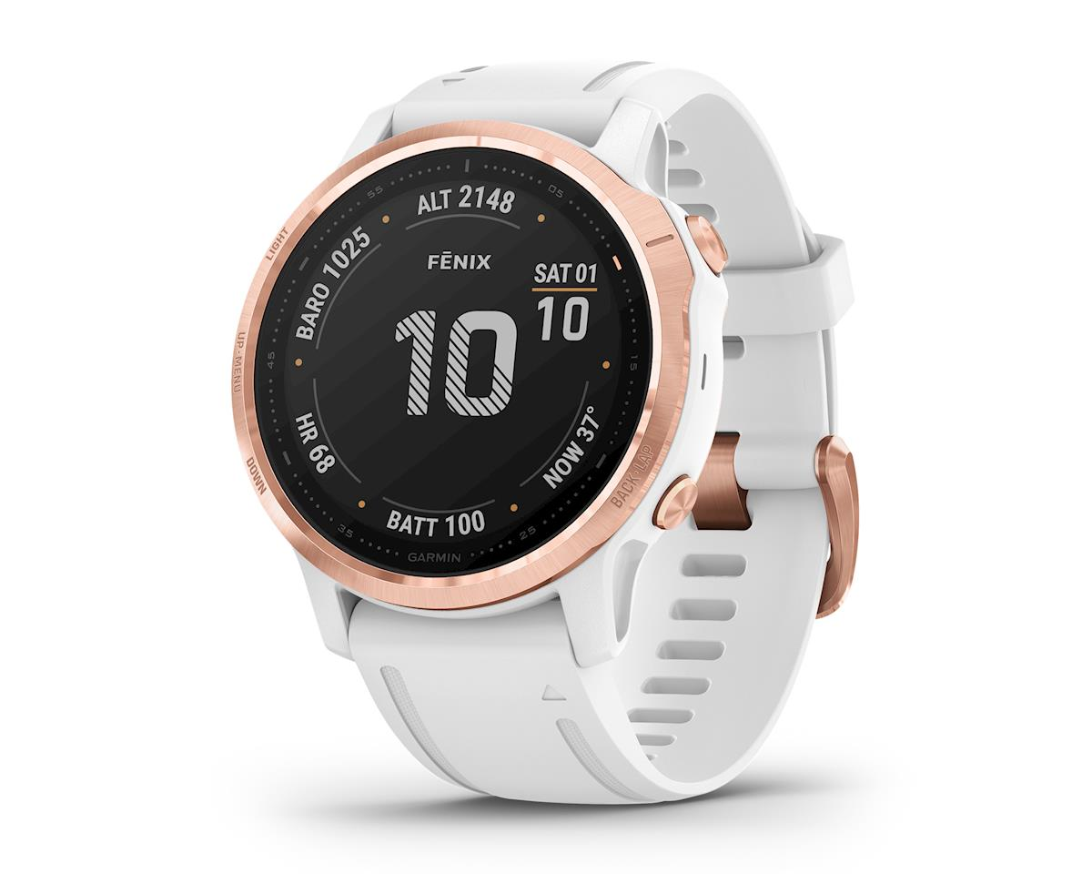 Garmin Fenix 6S Pro (Rose Gold w/ White Fenix 6 Quick Fit Wristband)