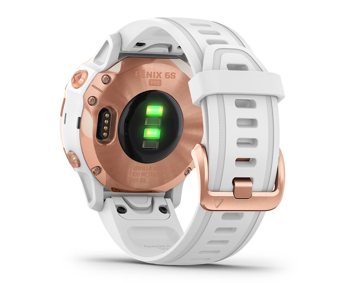 Garmin Fenix 6S Pro (Rose Gold w/ White Fenix 6 Quick Fit Wristband)