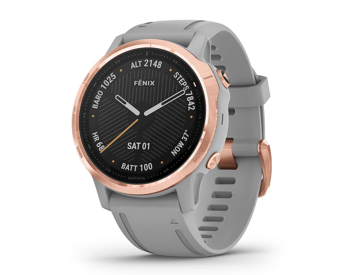 Garmin Fenix 6S Sapphire (Rose Gold w/ Gray Fenix 6 Quick Fit Wristband)