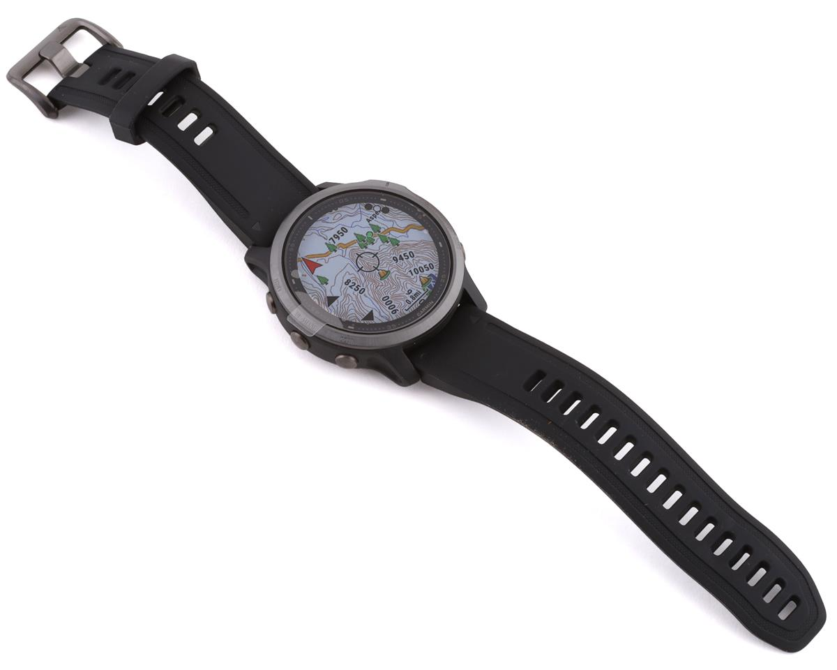 Garmin Fenix 6S Sapphire (Carbon Grey DLC w/ Black Fenix 6 Quick Fit Wristband)
