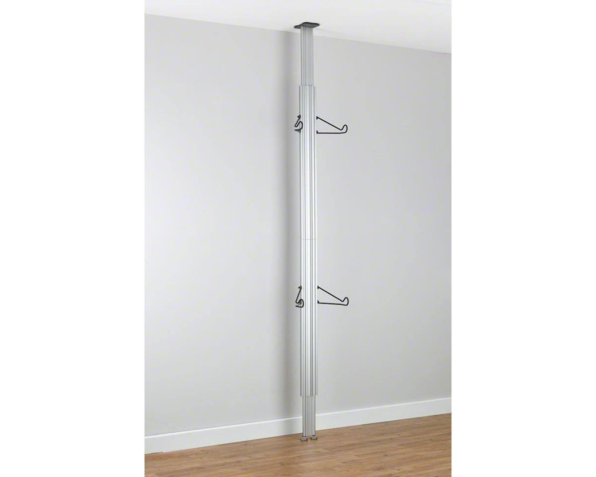 Image 2 for Gearup Gear Up Floor to Ceiling Aluminum Storage Rack: 2-Bike, Silver