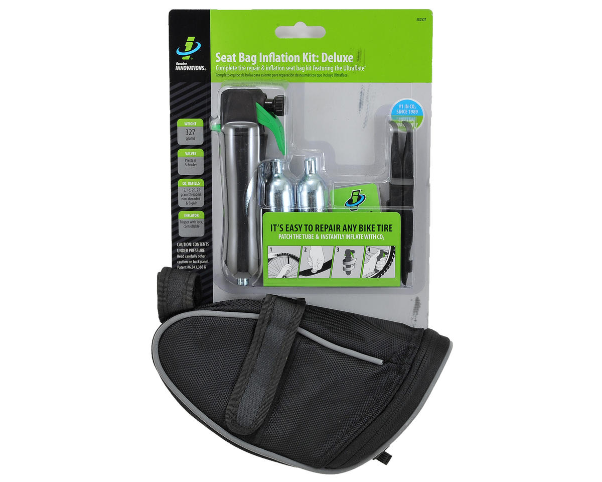 Genuine Innovations Deluxe Bike Saddle Bag & Inflation Tool Kit