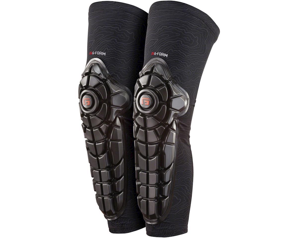 Elite Knee-Shin Pad: Black/Topo, XL