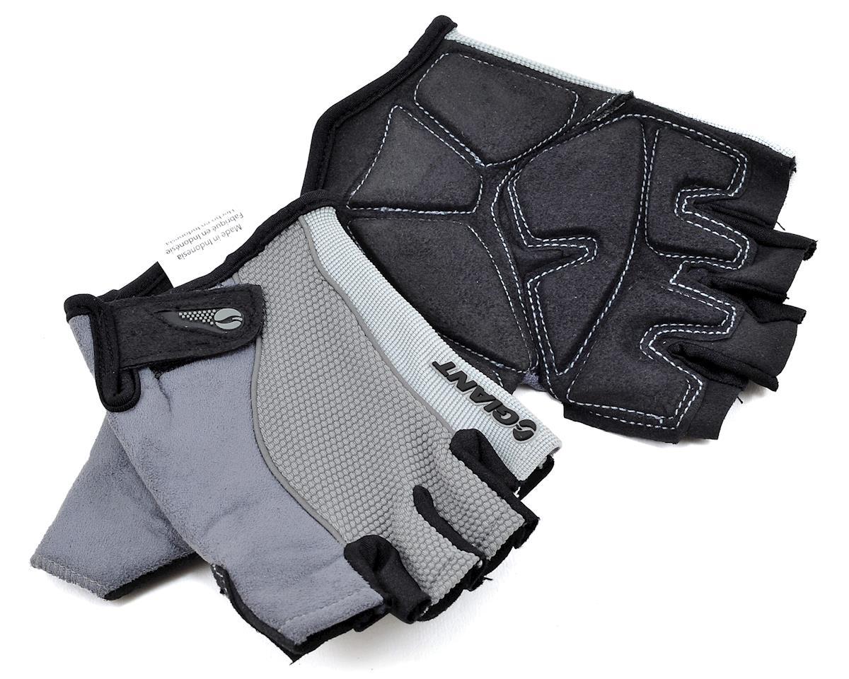 Giant Plush Gel Short Finger Bike Gloves (Gray) (S)