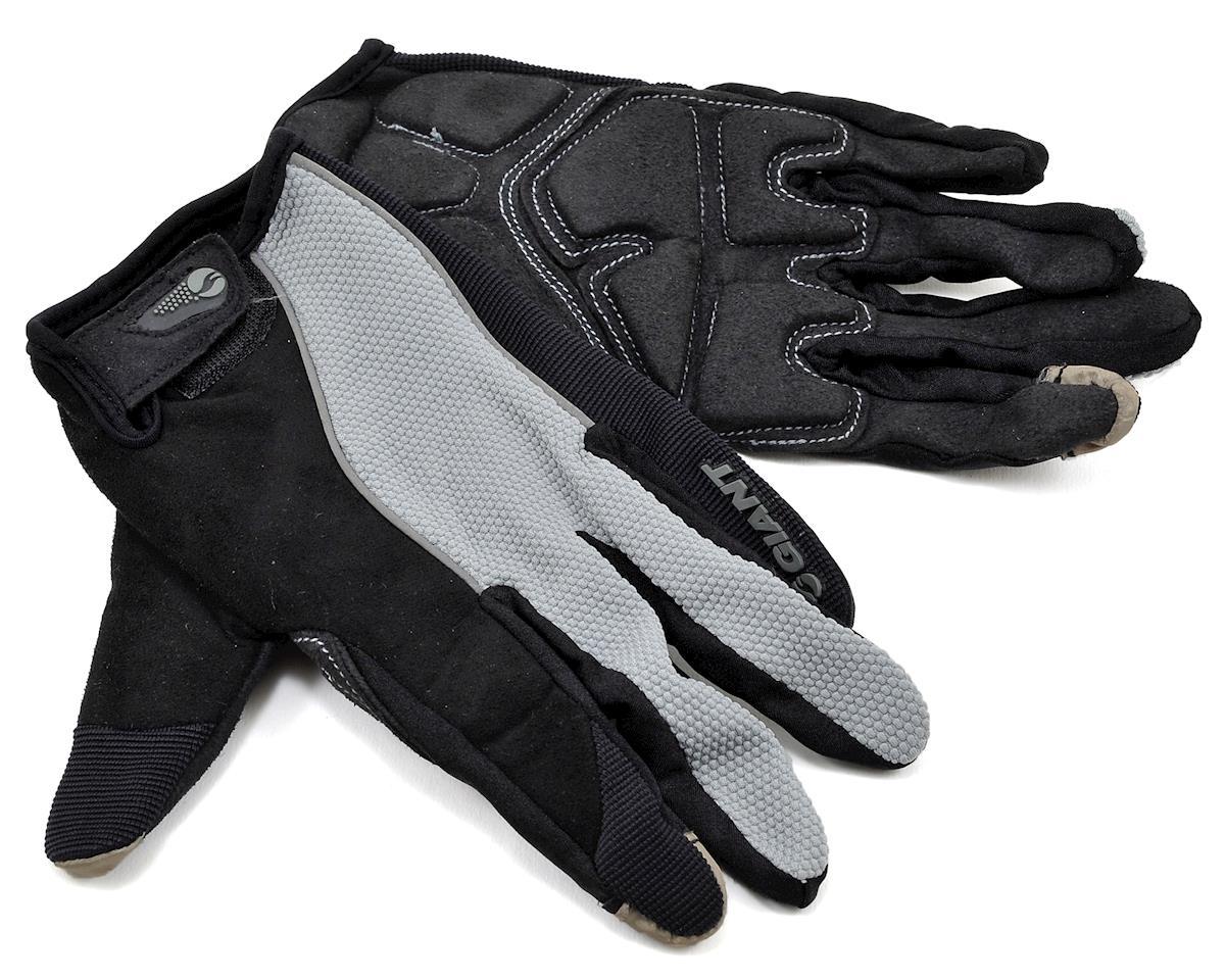 Giant Plush Gel Long Finger Bike Gloves (Black)
