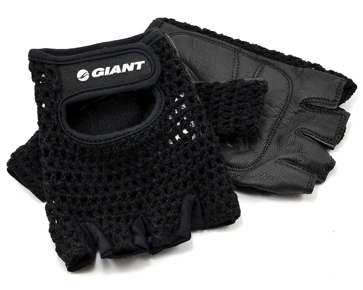 Giant Crochet Bike Gloves (Black)