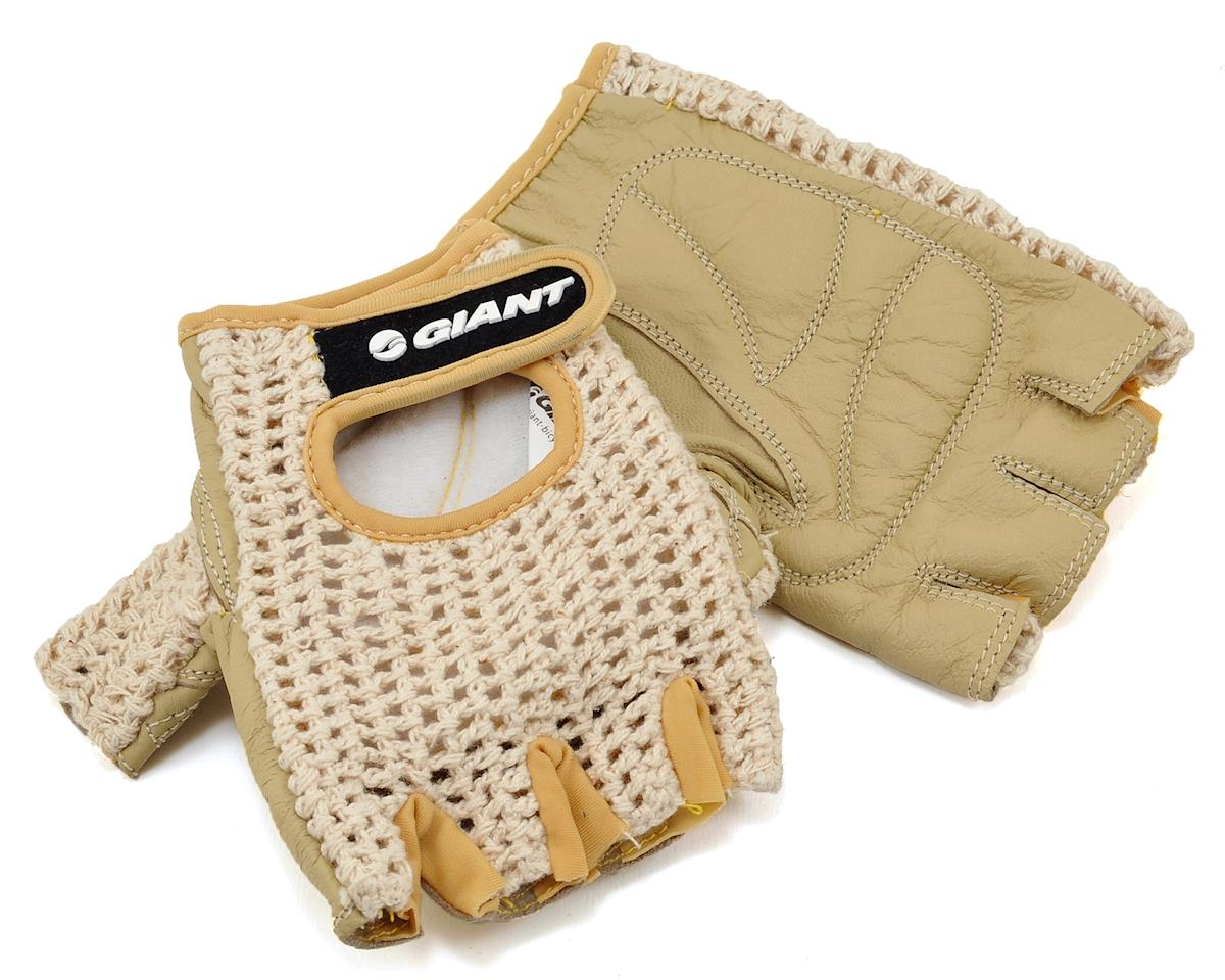 Giant Crochet Bike Gloves (Black) (S)