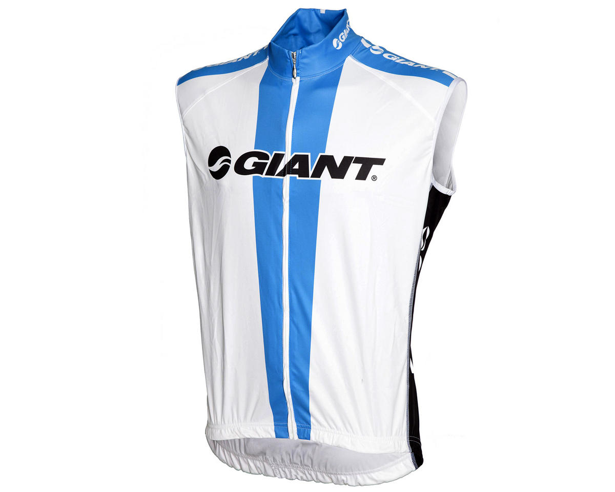 Giant Hincapie Men's Team Bike Vest (White/Blue/Black)